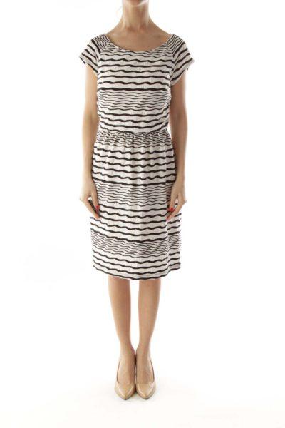 Black White Stripped Day Dress