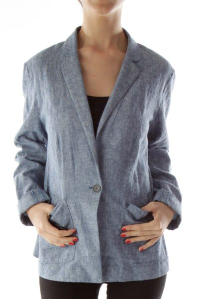 Blue Mottled Blazer