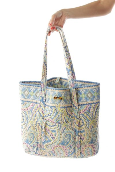Multicolor Floral Quilted Tote