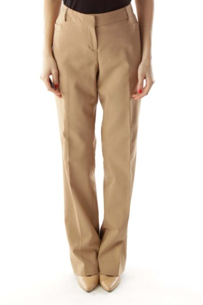 Brown Slim Fitted Pants