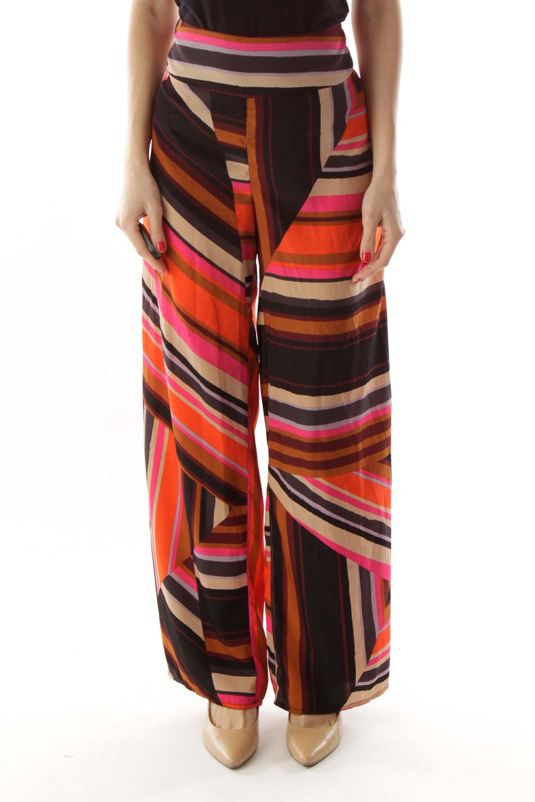 Multicolor Flared Pants