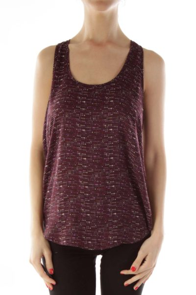 Purple Polka-Dot Tank Top