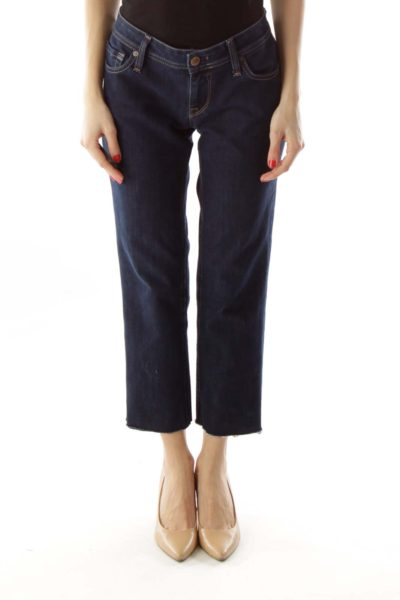 Dark Denim Cropped Jeans