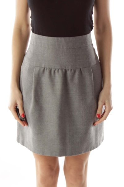 Gray Wool Skirt