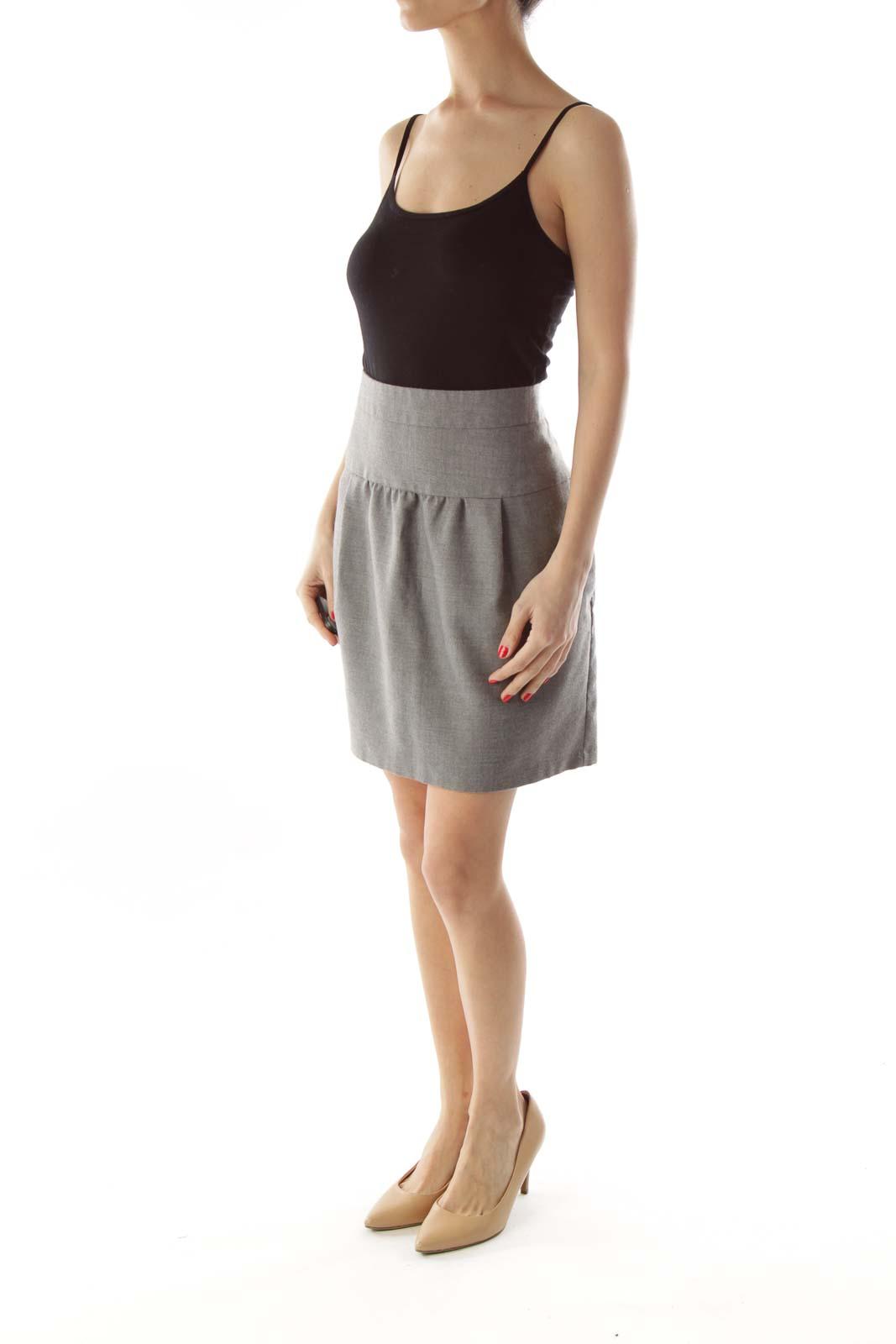 Gray Wool Skirt