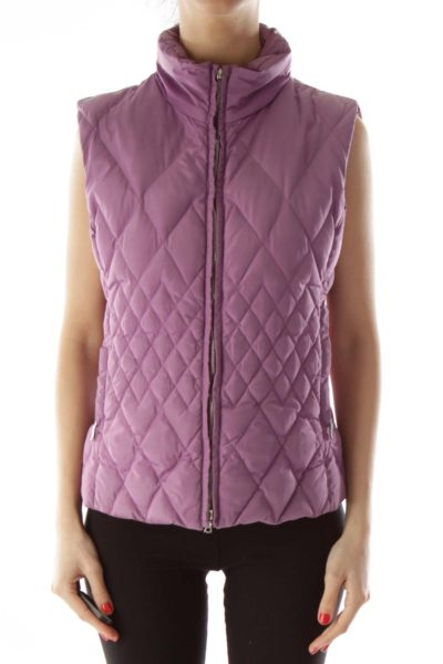 Purple Quilted Puffy Vest