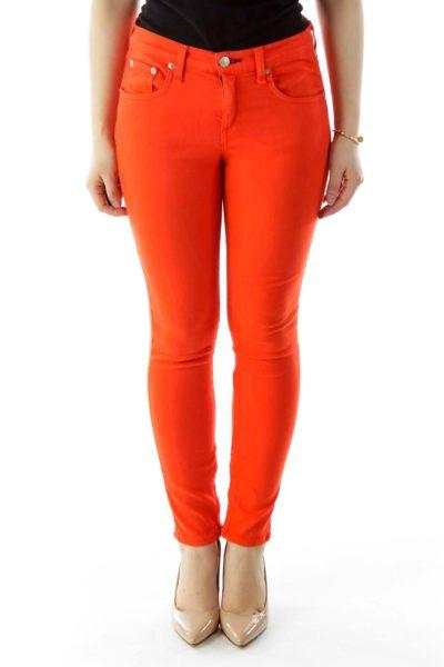 Orange Skinny Jeans