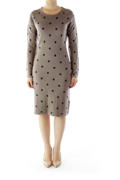 Brown Merino Wool Dress