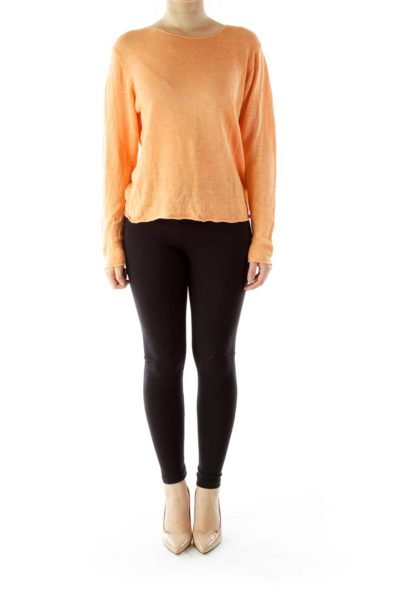 Orange Linen Sweater