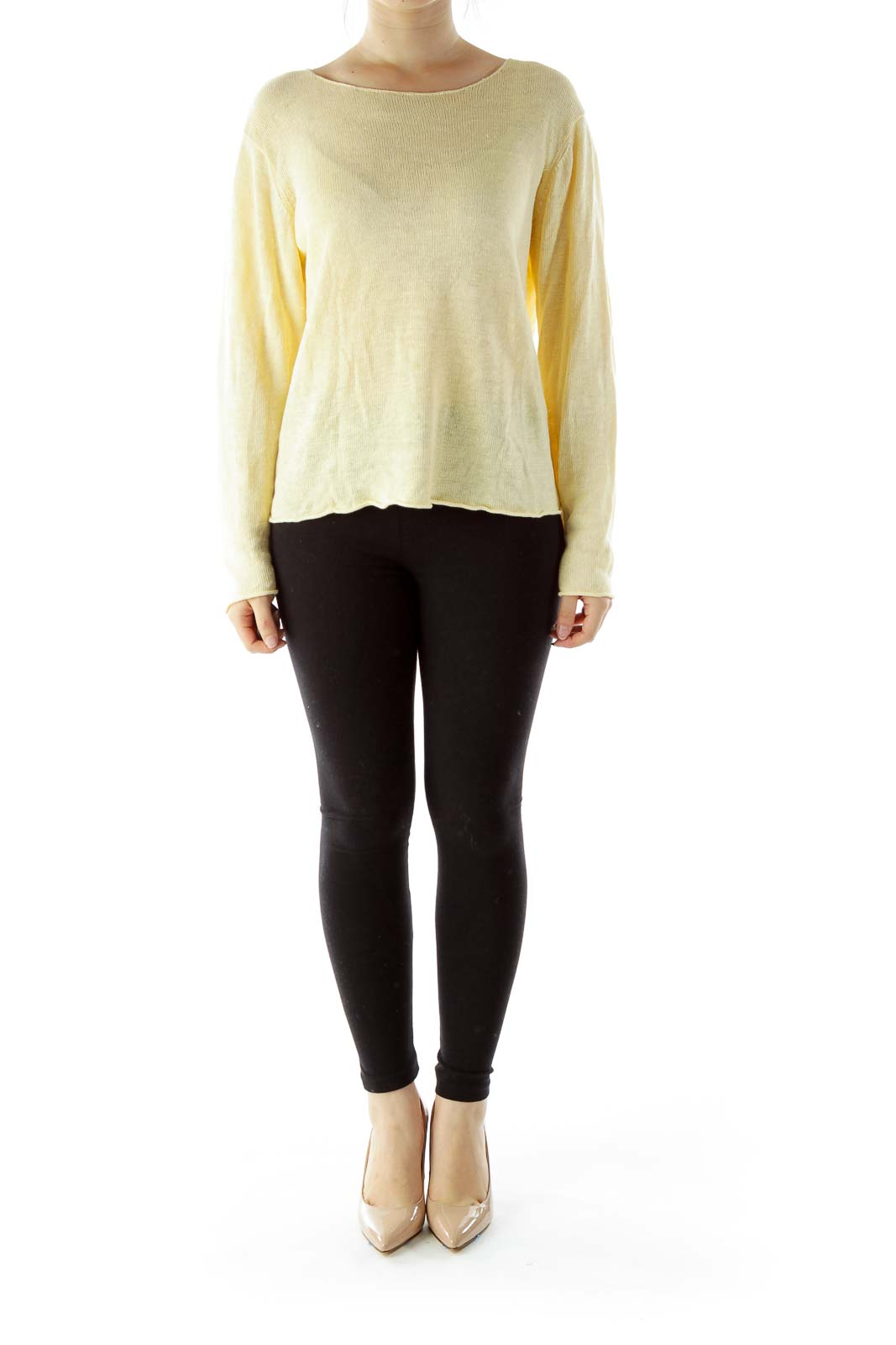 Yellow Linen Sweater