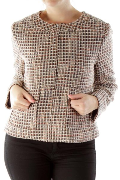 Brown Pink Tweed Jacket