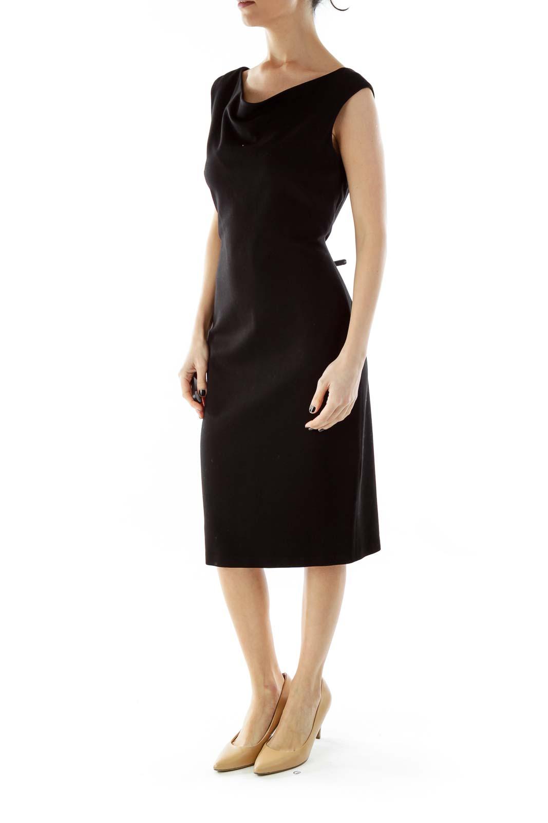 Black Fitted Off-Shoulder Dress