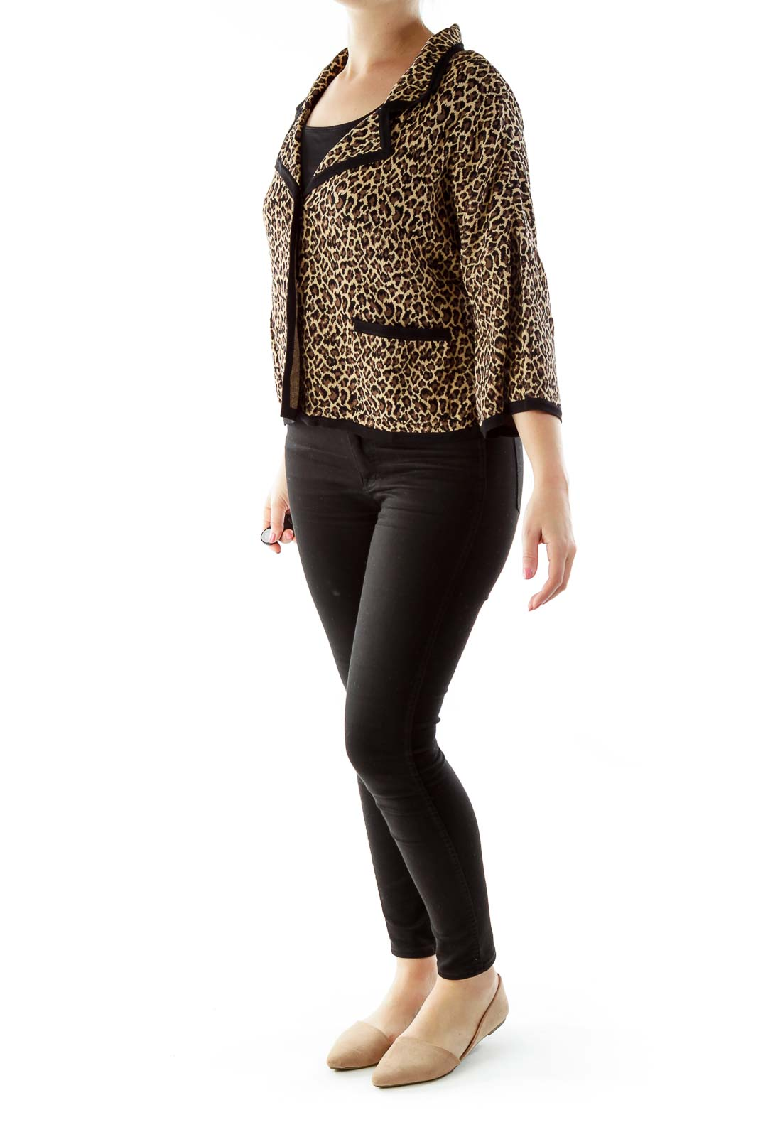 Brown Black Cheetah Blazer