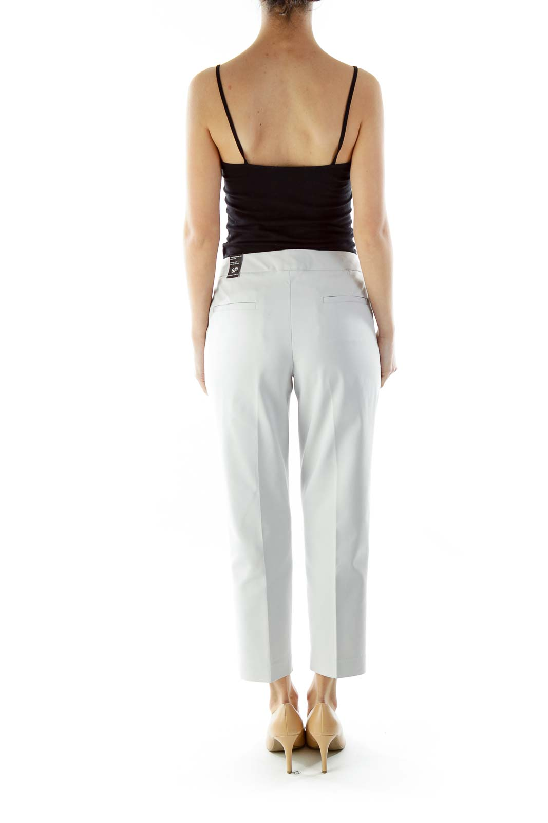 Light Gray Cropped Pants