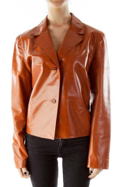 Orange Leather Jacket