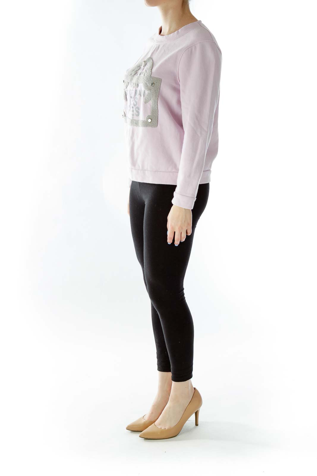 Pink Embroidered Sweater
