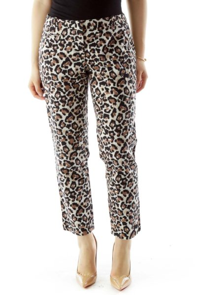 Black Brown Cheetah Pants