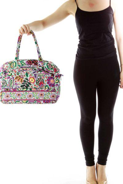 Multicolor Floral Print Shoulder Bag