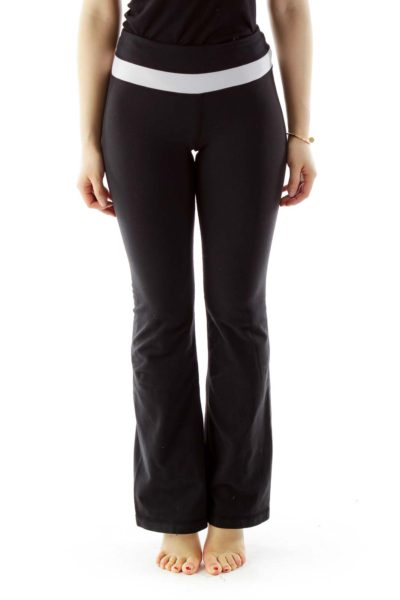 Black Cream Yoga Pants