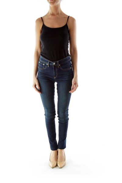 Navy Skinny Stretch Jeans