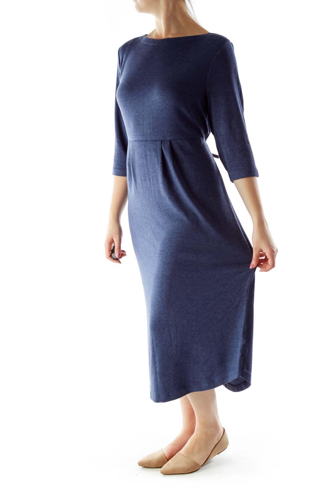 Navy Jersey Dress