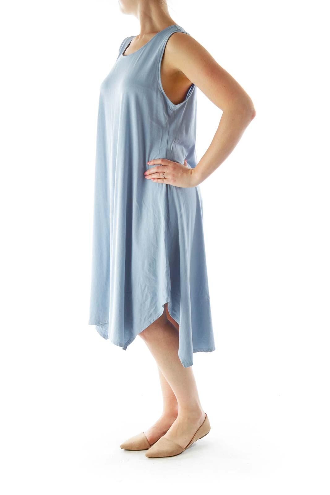 Blue Jersey Tent Dress