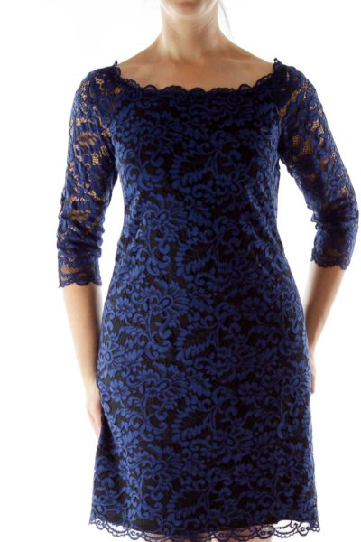 Black Nay Lace Fitted Dress