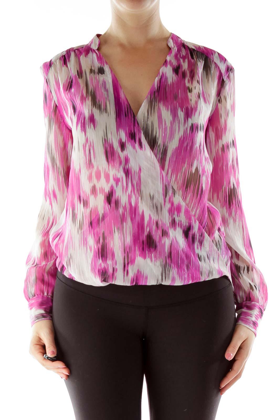Pink Beige Sparkle Blouse