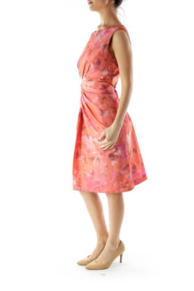 Pink Orange Work Dress