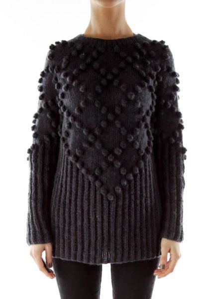 Gray Knit Wool Sweater
