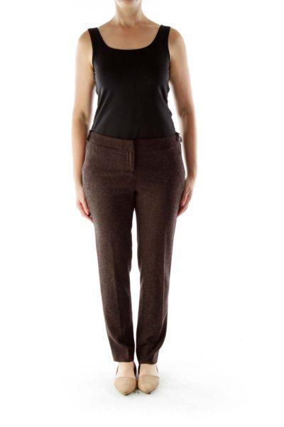 Black Pink Cropped Pants