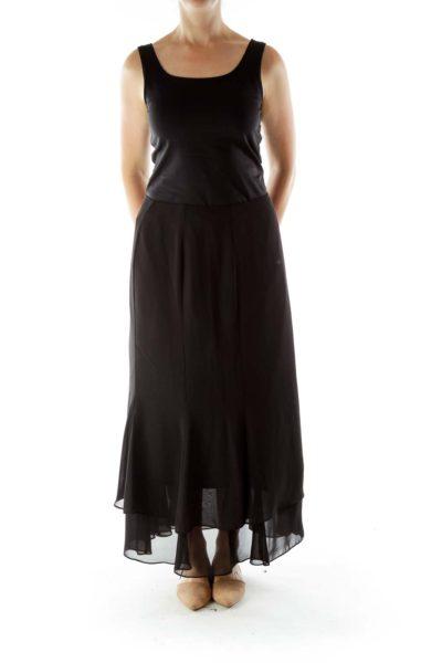 Black Maxi Chiffon Skirt