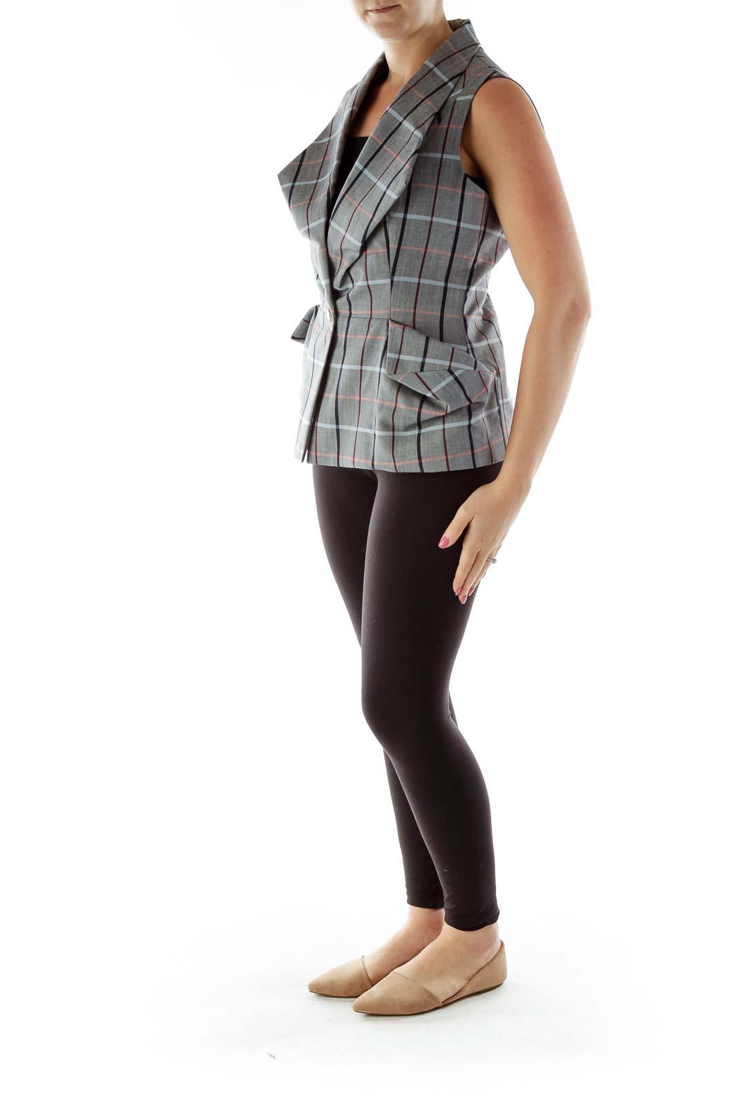 Gray Checkered Vest