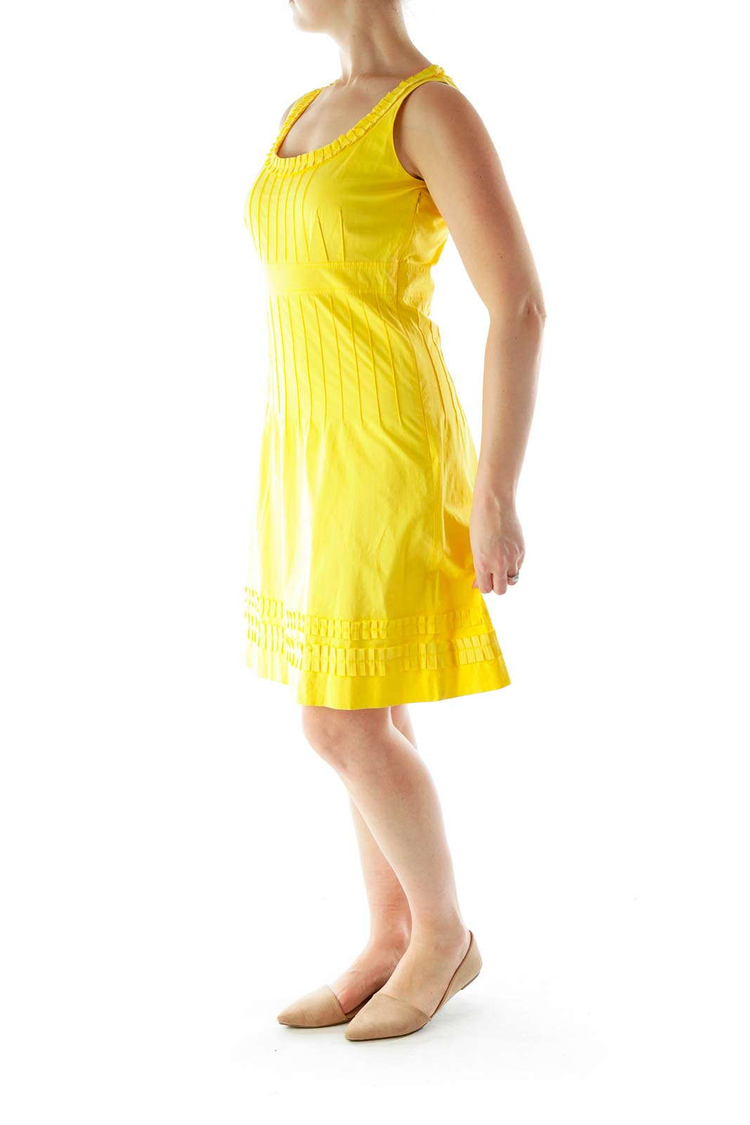 Yellow Flared Day Dress