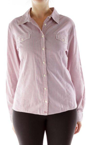 Red White Striped Shirt