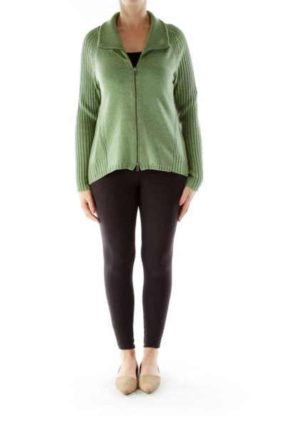 Green Merino Wool Sweater