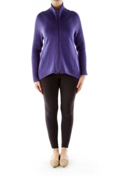 Purple Merino Wool Sweater