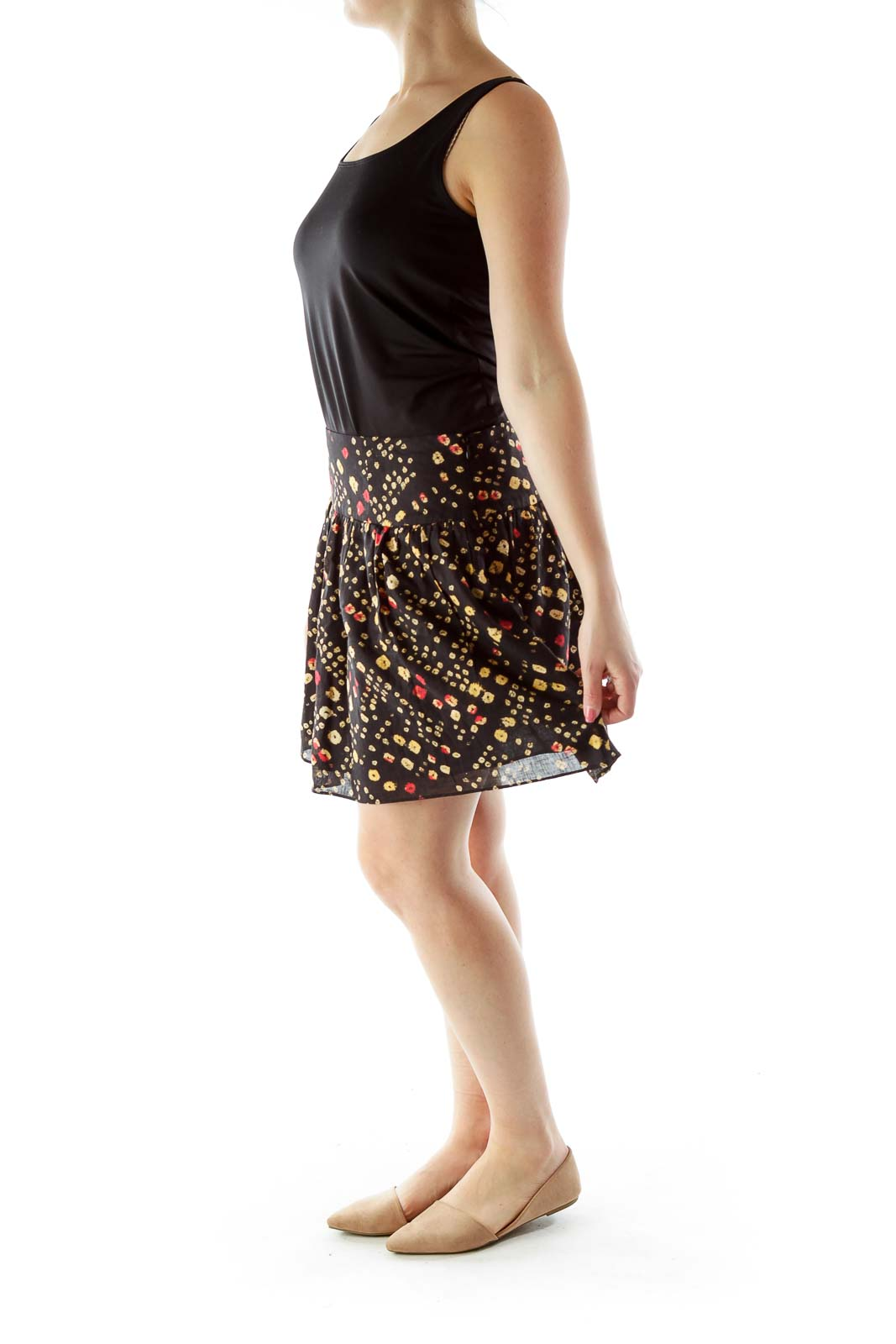 Black Multicolor Skirt