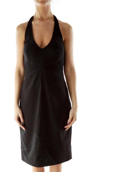 Black Halter Cocktail Dress