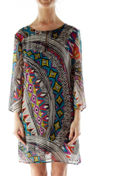 Multicolor Sheer Blouse