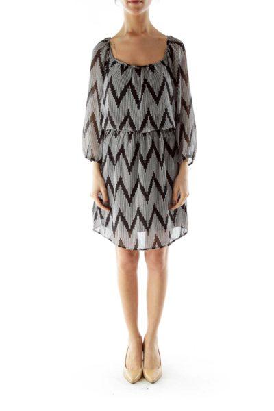 Black White Polka-dot Dress