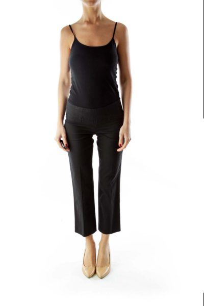 Black High-Waisted Cropped Pants