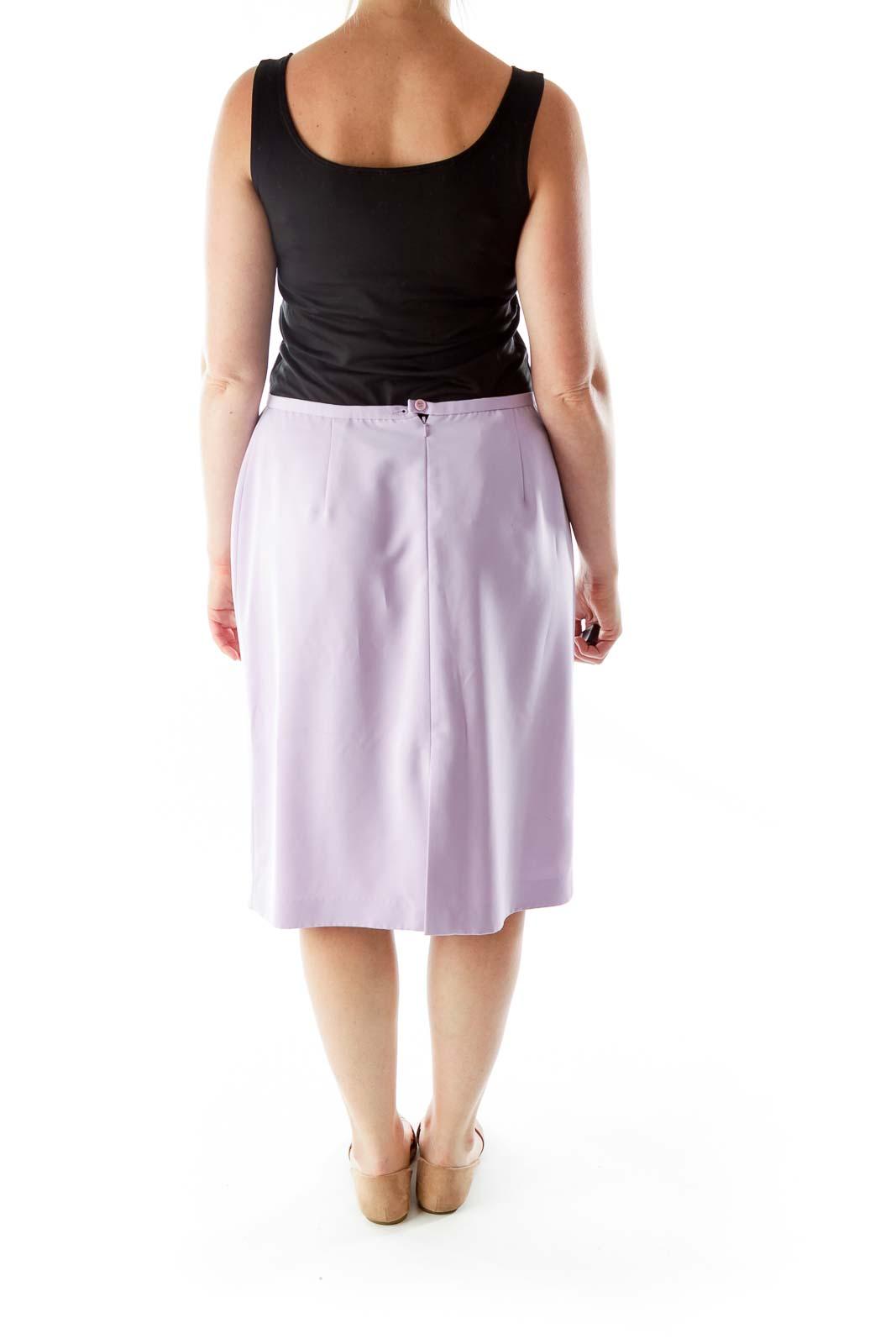 Purple Midi Pencil Skirt