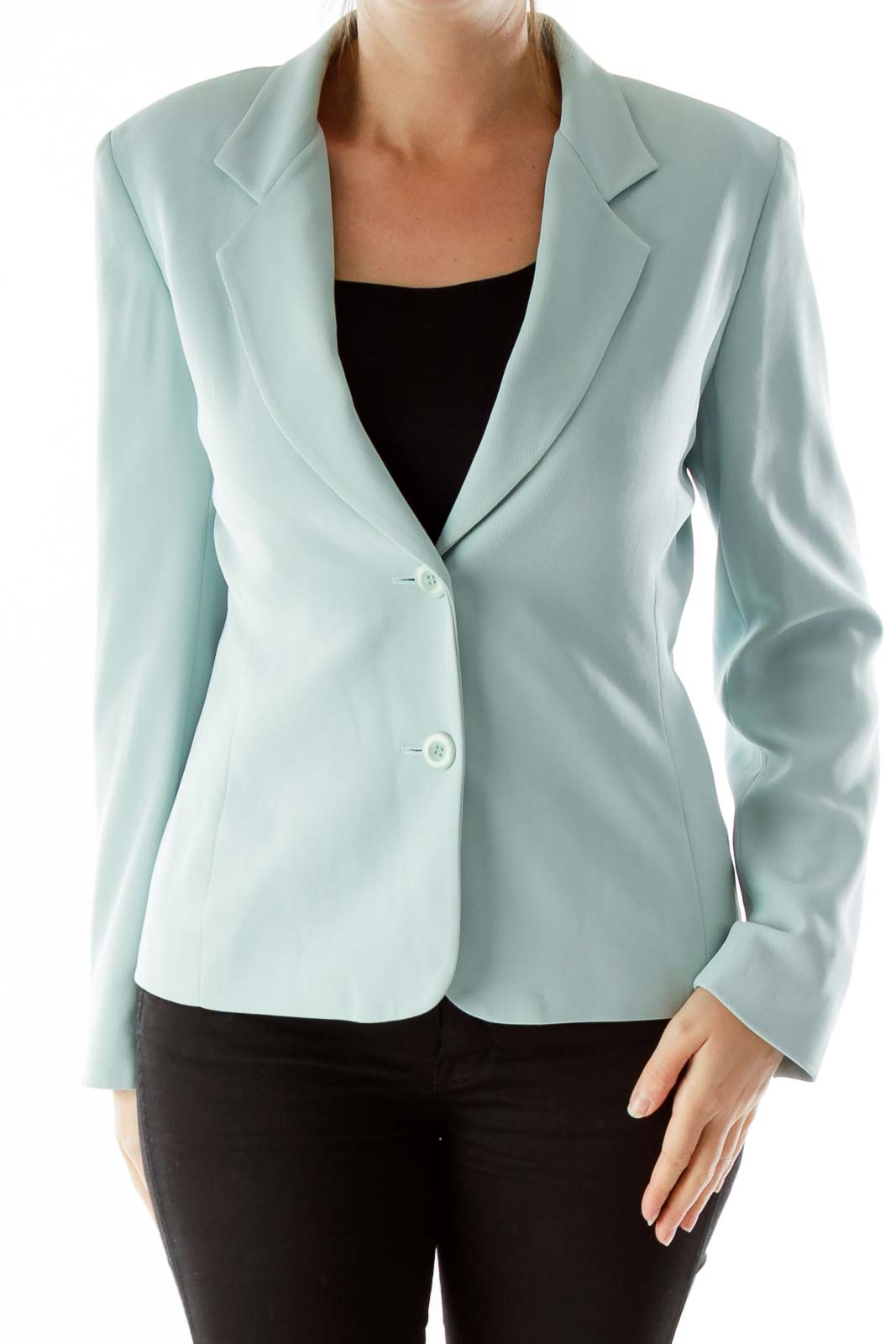 Mint Single-Breasted Suit Jacket
