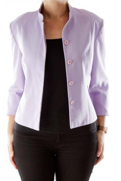 Purple Suit Jacket with Shoulder Pads