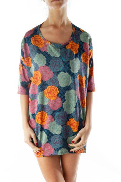 Multicolor Flower Print Tunics