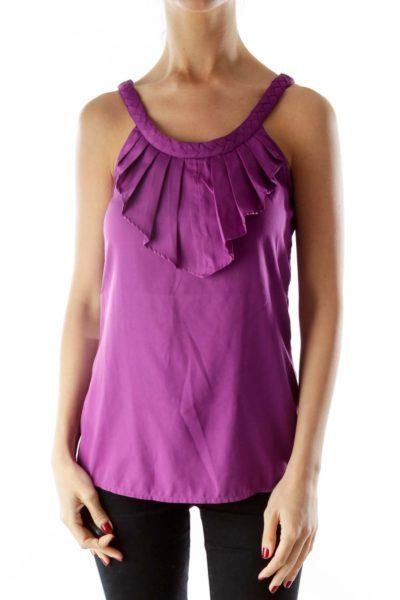 Purple Ruffled Top