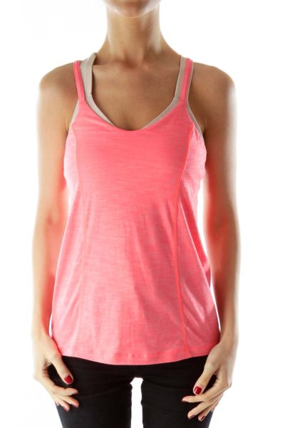 Red Spaghetti Strap Yoga Tank Top