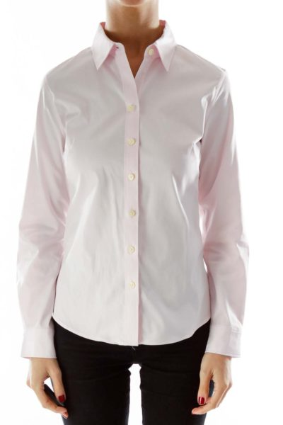 Pink button up shirt