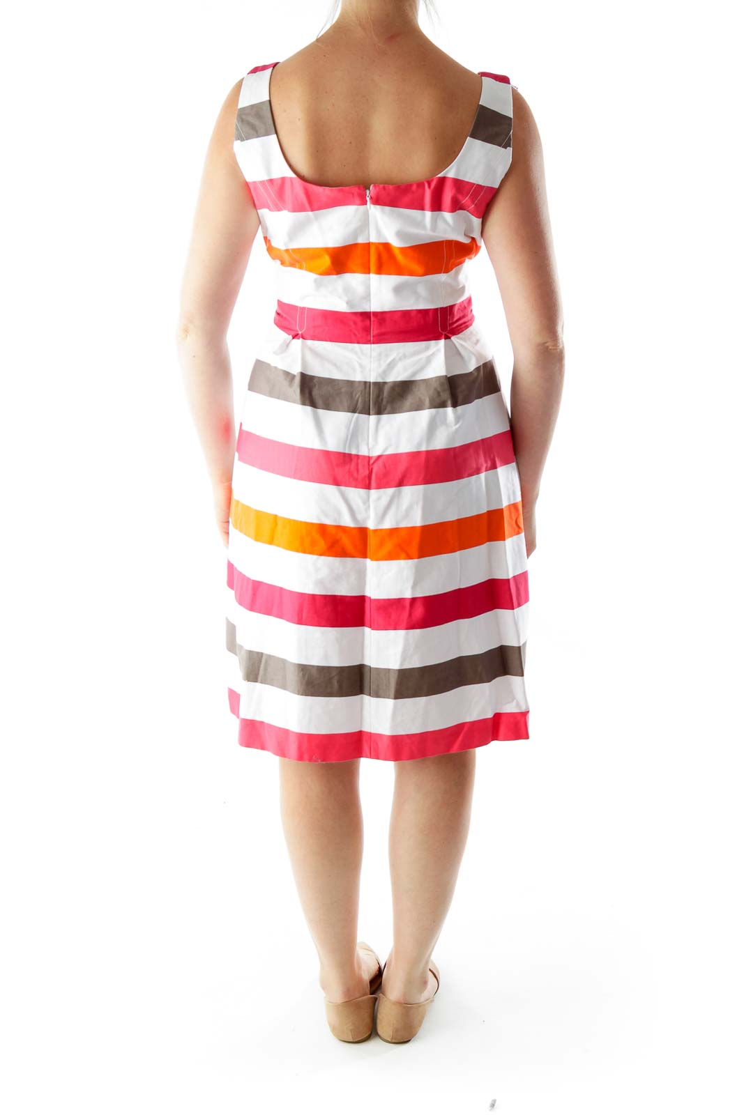 Multicolor Striped Summer Dress